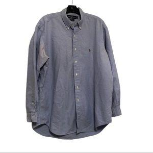 Ralph Lauren Yarmouth Cotton Oxford, Blue, XL